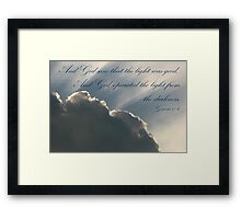 The First Day Framed Print