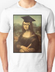 Mona Lisa Graduate with Glasses T-Shirt
