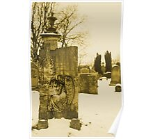 Angel on a gravestone Poster
