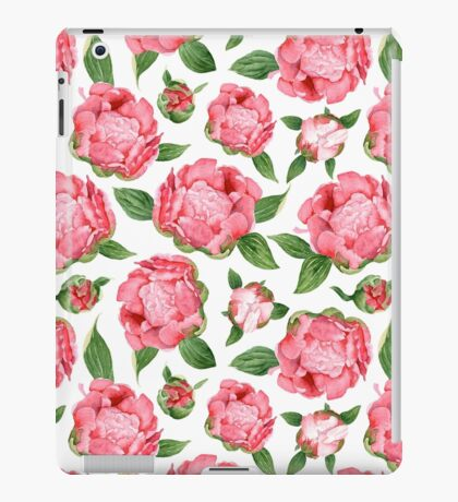Watercolor Peonies iPad Case/Skin