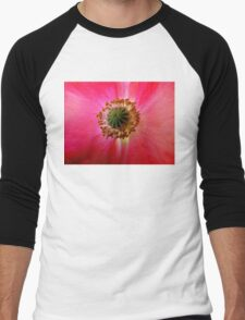 Heart of a Red Poppy Men's Baseball ¾ T-Shirt