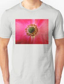 Heart of a Red Poppy Unisex T-Shirt