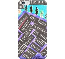 Mountain Painting with Words iPhone Case/Skin