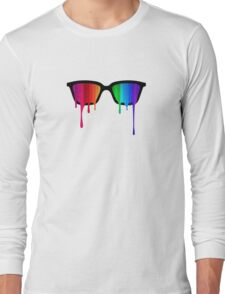 Love Wins! Rainbow - Spectrum (Pride) / Hipster Nerd Glasses Long Sleeve T-Shirt