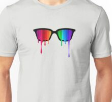 Love Wins! Rainbow - Spectrum (Pride) / Hipster Nerd Glasses Unisex T-Shirt