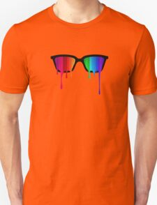 Love Wins! Rainbow - Spectrum (Pride) / Hipster Nerd Glasses Unisex T-Shirt