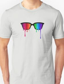 Love Wins! Rainbow - Spectrum (Pride) / Hipster Nerd Glasses T-Shirt