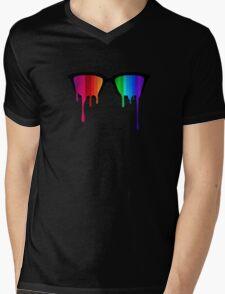 Love Wins! Rainbow - Spectrum (Pride) / Hipster Nerd Glasses Mens V-Neck T-Shirt