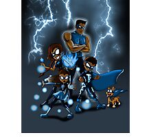 Family of Super Heroes  Photographic Print