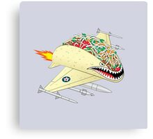 Taco Fighter Jet Canvas Print