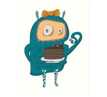 Cakes... cakes for monsters!  Art Print