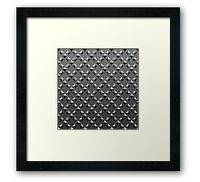 Diamonds - true gray Framed Print