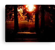 Silhouetted Memories Canvas Print