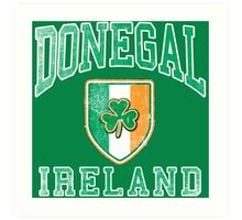 Donegal, Ireland with Shamrock Art Print