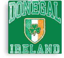 Donegal, Ireland with Shamrock Canvas Print