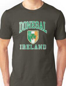 Donegal, Ireland with Shamrock Unisex T-Shirt