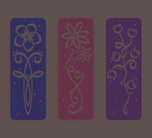flower panels, colour silhouette One Piece - Short Sleeve