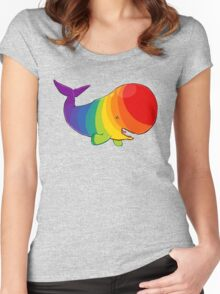 Homosexuwhale - no text Women's Fitted Scoop T-Shirt