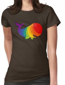 Homosexuwhale - no text Womens Fitted T-Shirt