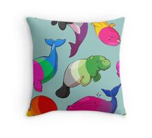 Sexuality Whales (And Aromanatee) Pattern Throw Pillow