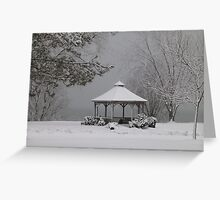 Gazebo in Winter Greeting Card