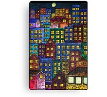 City Lights By Night Canvas Print