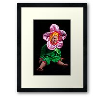 I DON'T WANNA BE A STUPID FLOWER! Framed Print