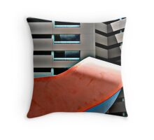 Building Abstract Throw Pillow