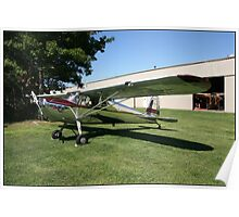 Silver Cessna Poster