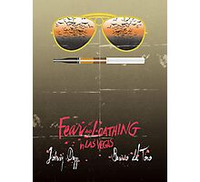 Minimalist Fear amd Loathing  Photographic Print