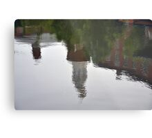 History Reflected in the Waters of Providence  Metal Print