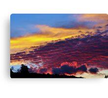 sunset colours Canvas Print