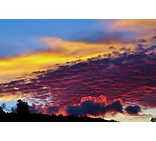 sunset colours Photographic Print
