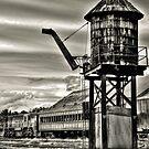 Old rail road station by pdsfotoart