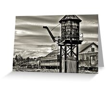 Old rail road station Greeting Card