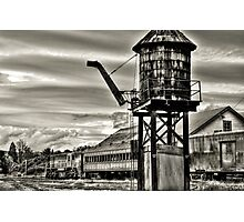 Old rail road station Photographic Print