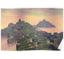 Island above the clouds Poster