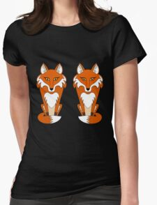 TWO FOXES Womens Fitted T-Shirt