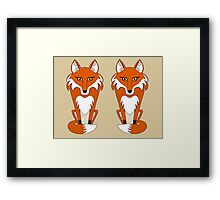 TWO FOXES Framed Print