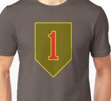 1st Infantry Division Combat Service Identification Badge (United States) Unisex T-Shirt