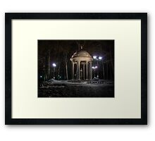 Electric night - HDR photo Framed Print