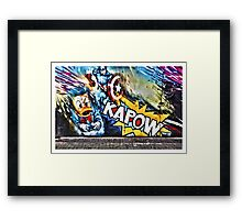Kapow- street art at Camden Market Framed Print