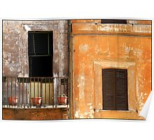 Balcony Rome Poster