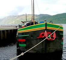 Dutch barge, Loch Ness, Scotland. by Roy  Massicks
