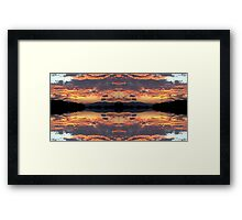 Wormhole Entrance At Sunset Framed Print