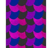 Mermaid Scales Black / Pink / Purple Photographic Print