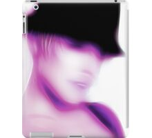 Abstract purple girl black hat iPad Case/Skin