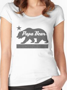 California Bear Family (PAPA Bear Version) Women's Fitted Scoop T-Shirt