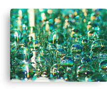 Aqua Drops Canvas Print