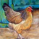 Chook at the Barn Door by Alexandra Felgate